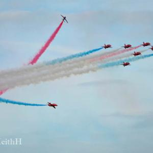 Red Arrows at Clacton cw
